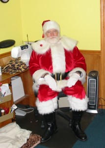 Santa dresses up for kids of all ages.