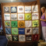 Quilt made from tee shirts