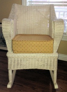 custom pillow for wicker rocker
